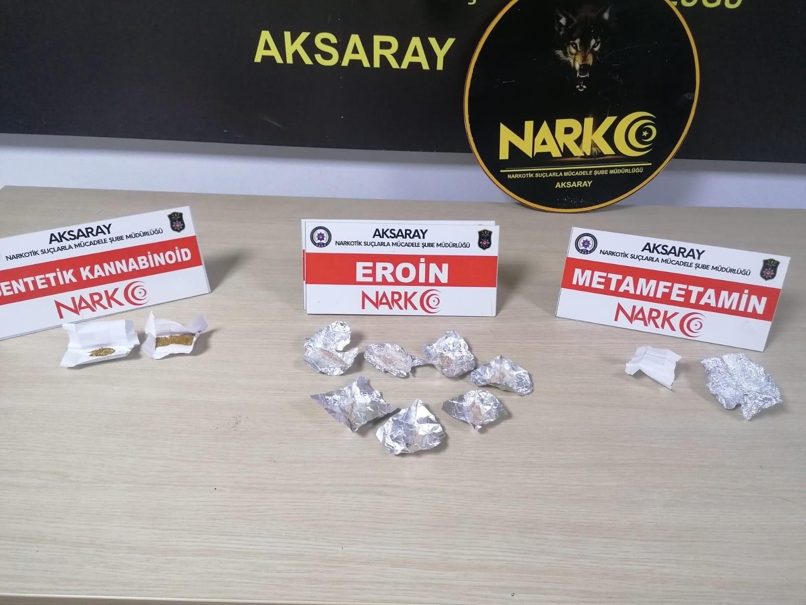 Aksaray'da düzenlenen uyuşturucu operasyonunda 5 şüpheli tutuklandı