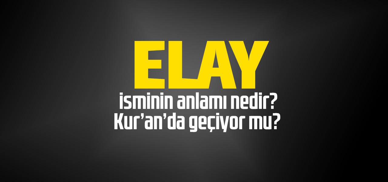 Elay isminin anlamı nedir, Elay ne demektir? Kuranda geçiyor mu?