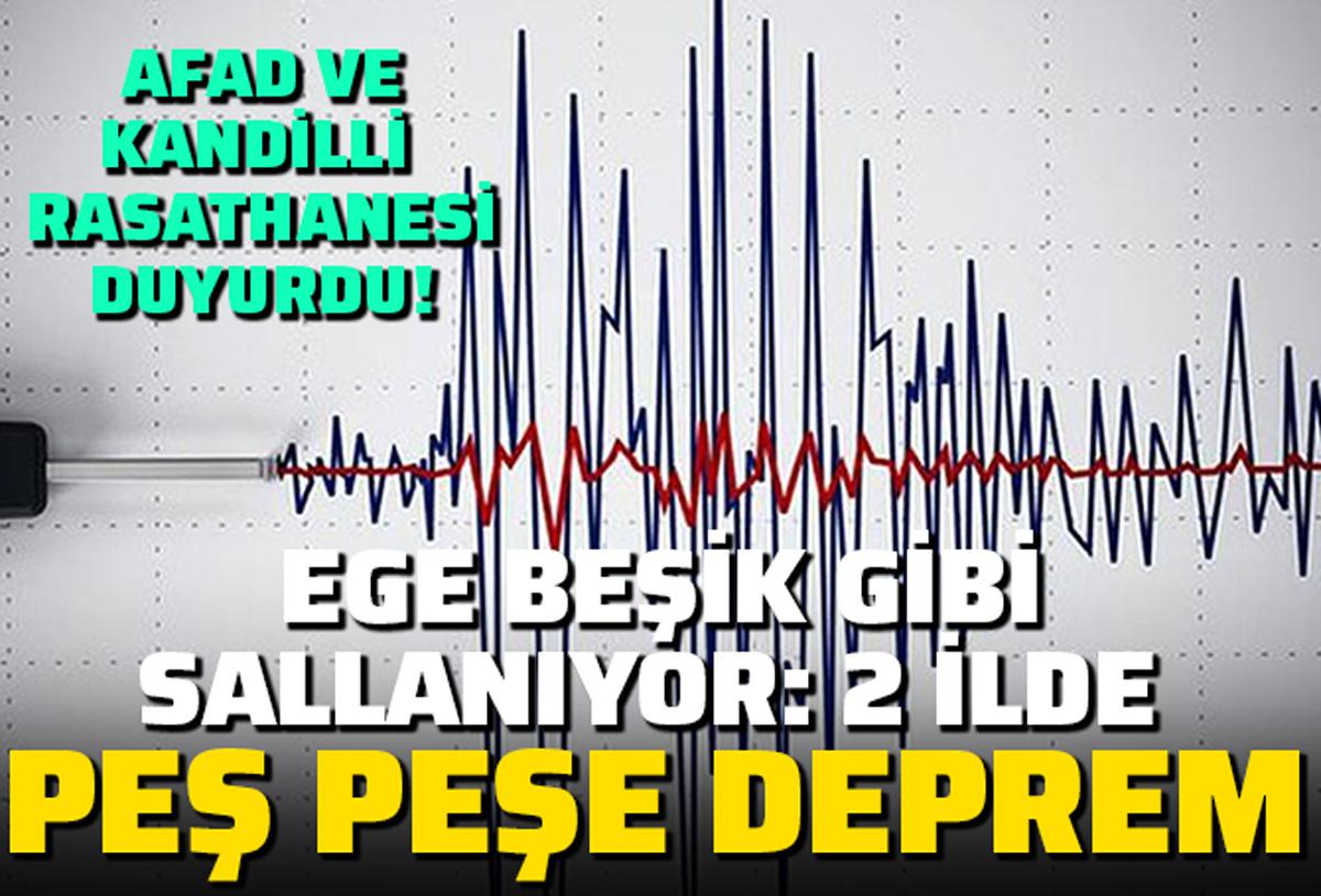 Ege beşik gibi sallanıyor: İzmir ve Çanakkale'de peş peşe depremler!