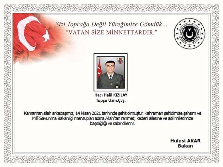 Hacı Halil Kızılay kimdir, kaç yaşındaydı? Şehit Hacı Halil Kızılay nereli?