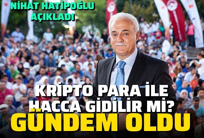 ATV canlı yayınında Nihat Hatiopoğlu'na zor soru! Kripto para ile hacca gidilir mi?
