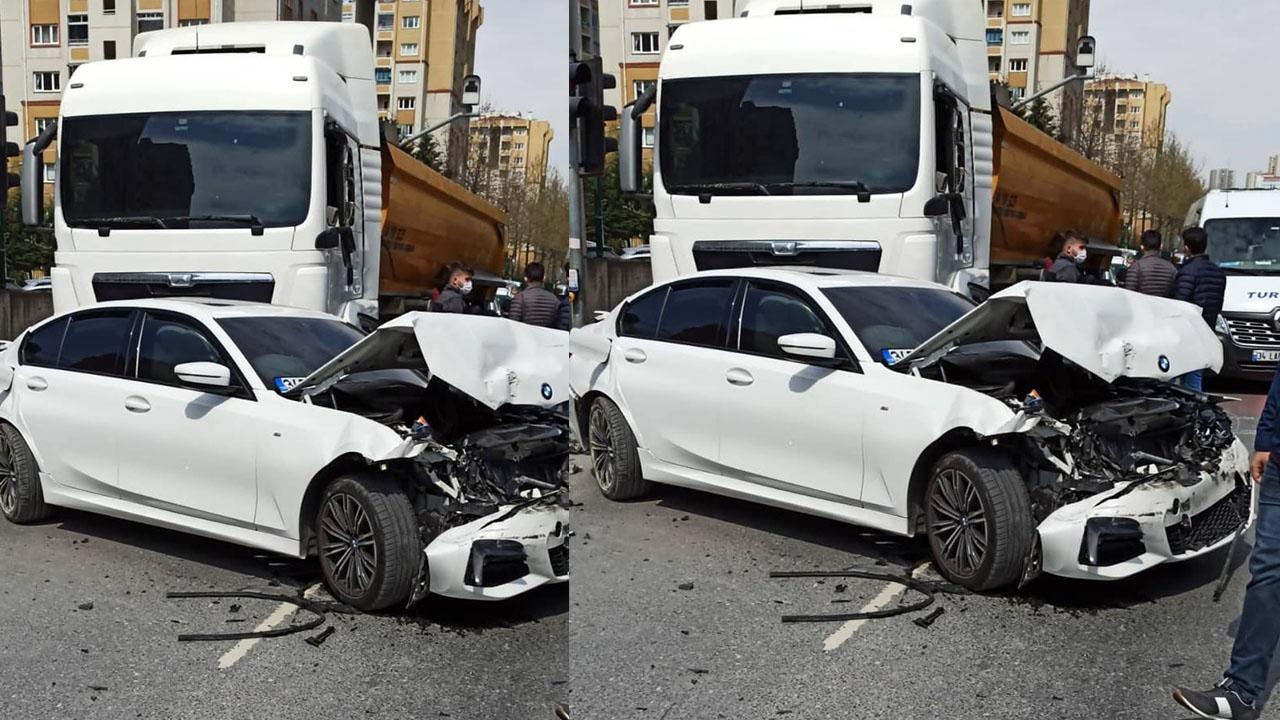 Freni tutmayan kamyon ortalığı savaş alanına çevirdi! Zincirleme kazada 2 kişi yaralandı