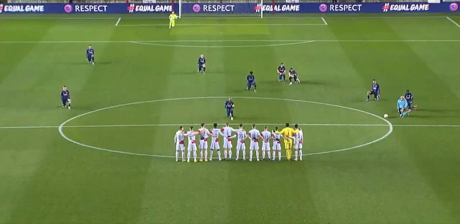 Arsenal - Slavia Prag maçında tepki çeken anlar! Slavia Praglı oyuncular ırkçılığa karşı diz çökmedi
