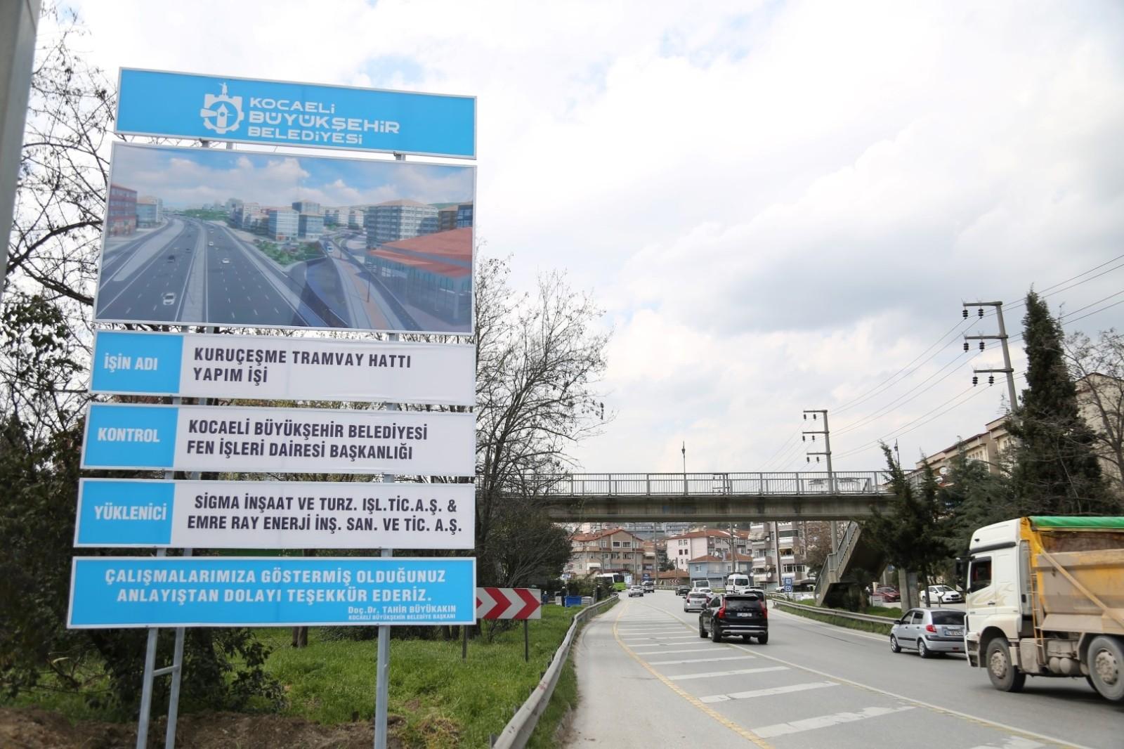 İzmit yeni tramvayına kavuşacak, Kuruçeşme tramvay hattına çalışmalar başladı