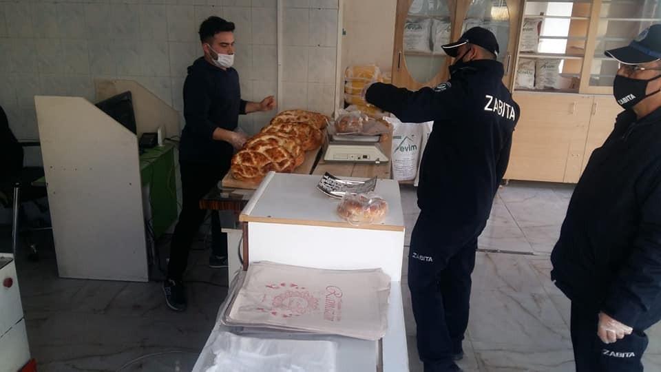 Sinop'ta zabıta ekipleri tarafından fırınlara denetim yapıldı