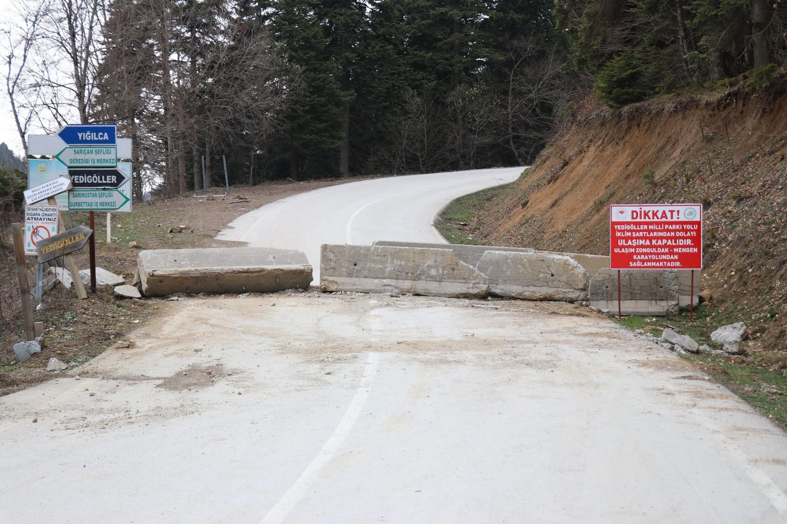 Önemli turizm merkezlerinden Yedigöller Milli Parkı yolu 4 aydır kapalı