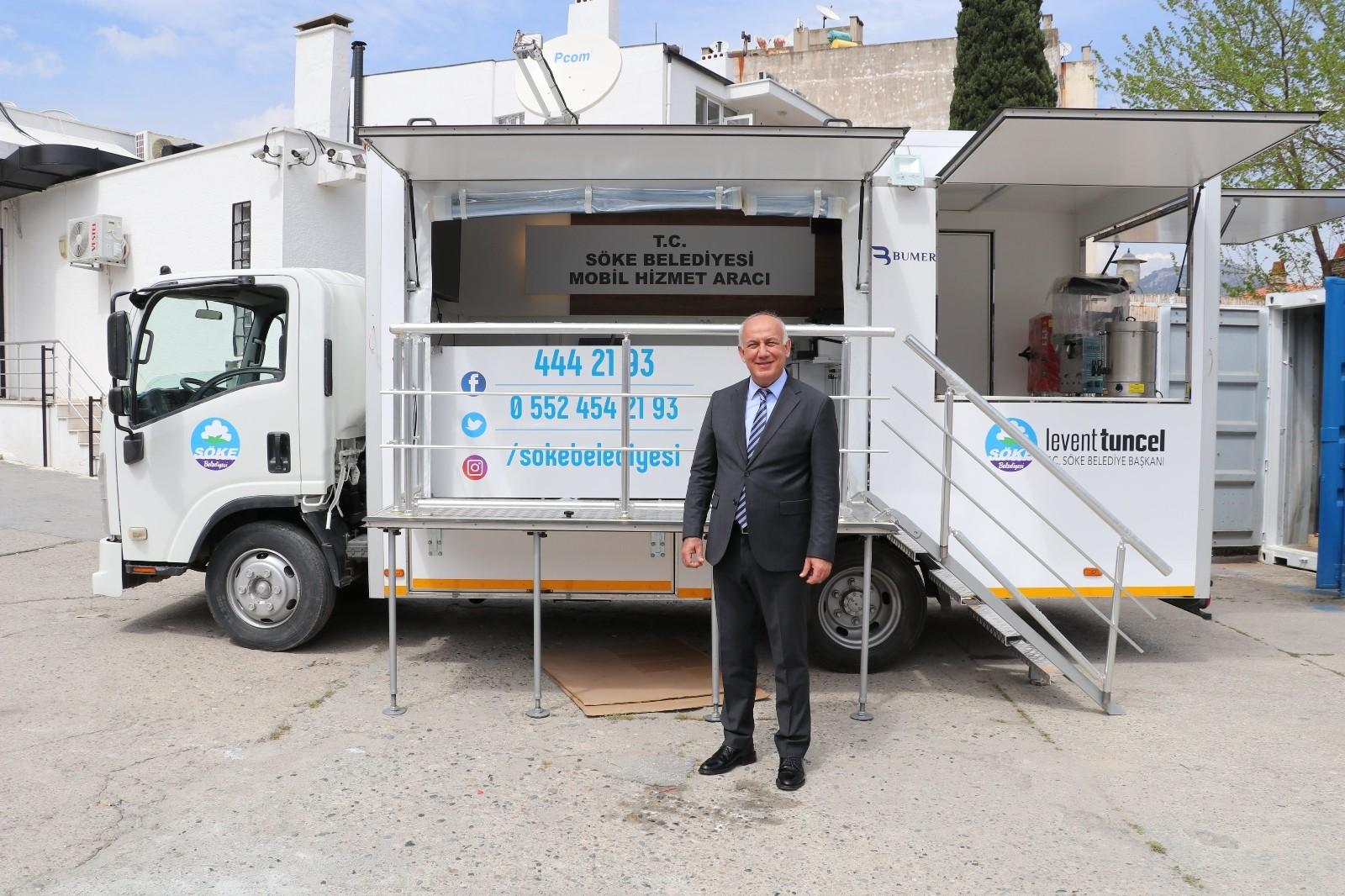 Söke Belediyesi tarafından yapılan Mobil Hizmet Aracı ve Deprem Konteynırı hizmete hazır