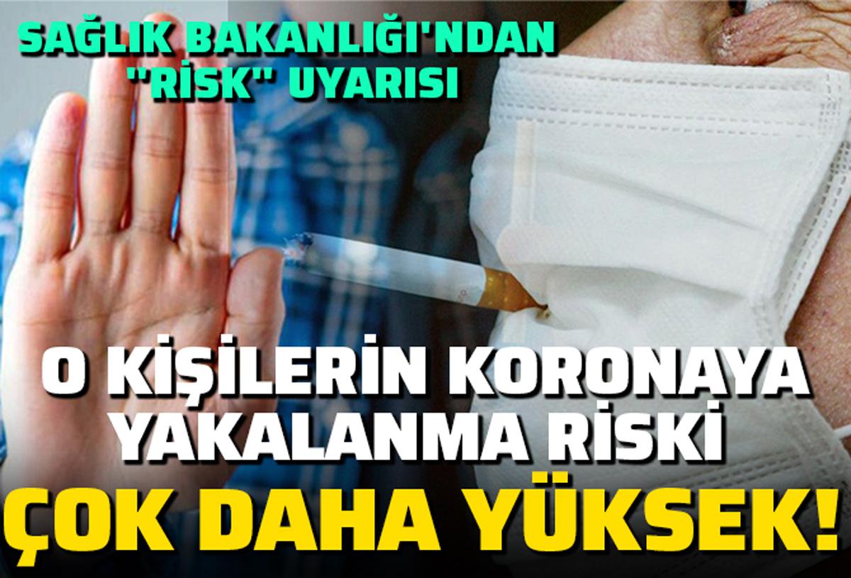Sigara kullananlar dikkat! Sağlık Bakanlığı uyardı: Koronavirüse yakalanma riski çok yüksek...