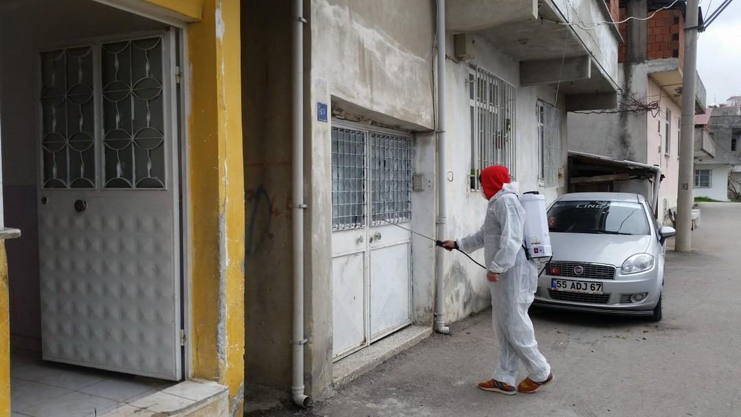 Samsun'da koronavirüsle mücadele! Virüs tespit edilen ev ve iş yerleri ücretsiz dezenfekte ediliyor