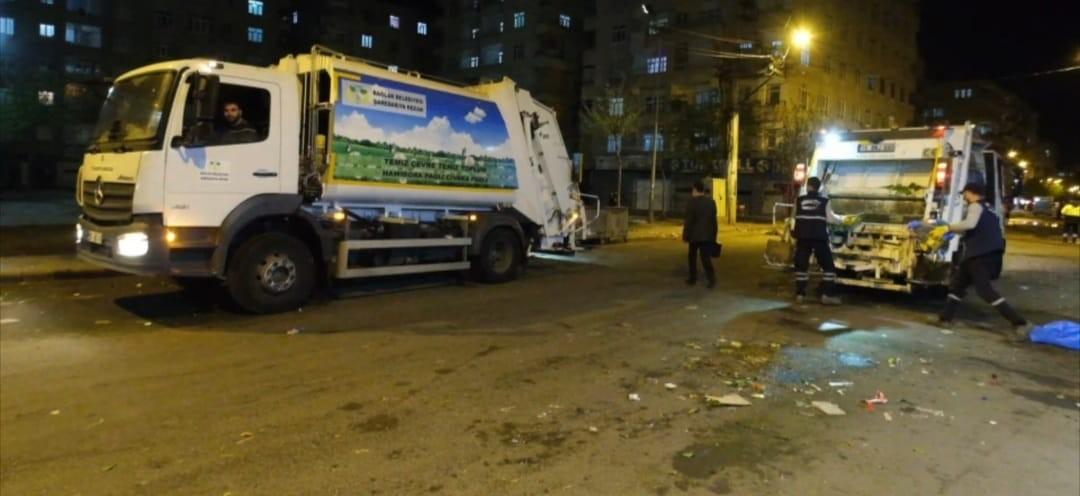 Sokaklar baştan aşağı temizlendi, AK Partili Bağlar'da sokağa çıkma kısıtlaması fırsata çevrildi