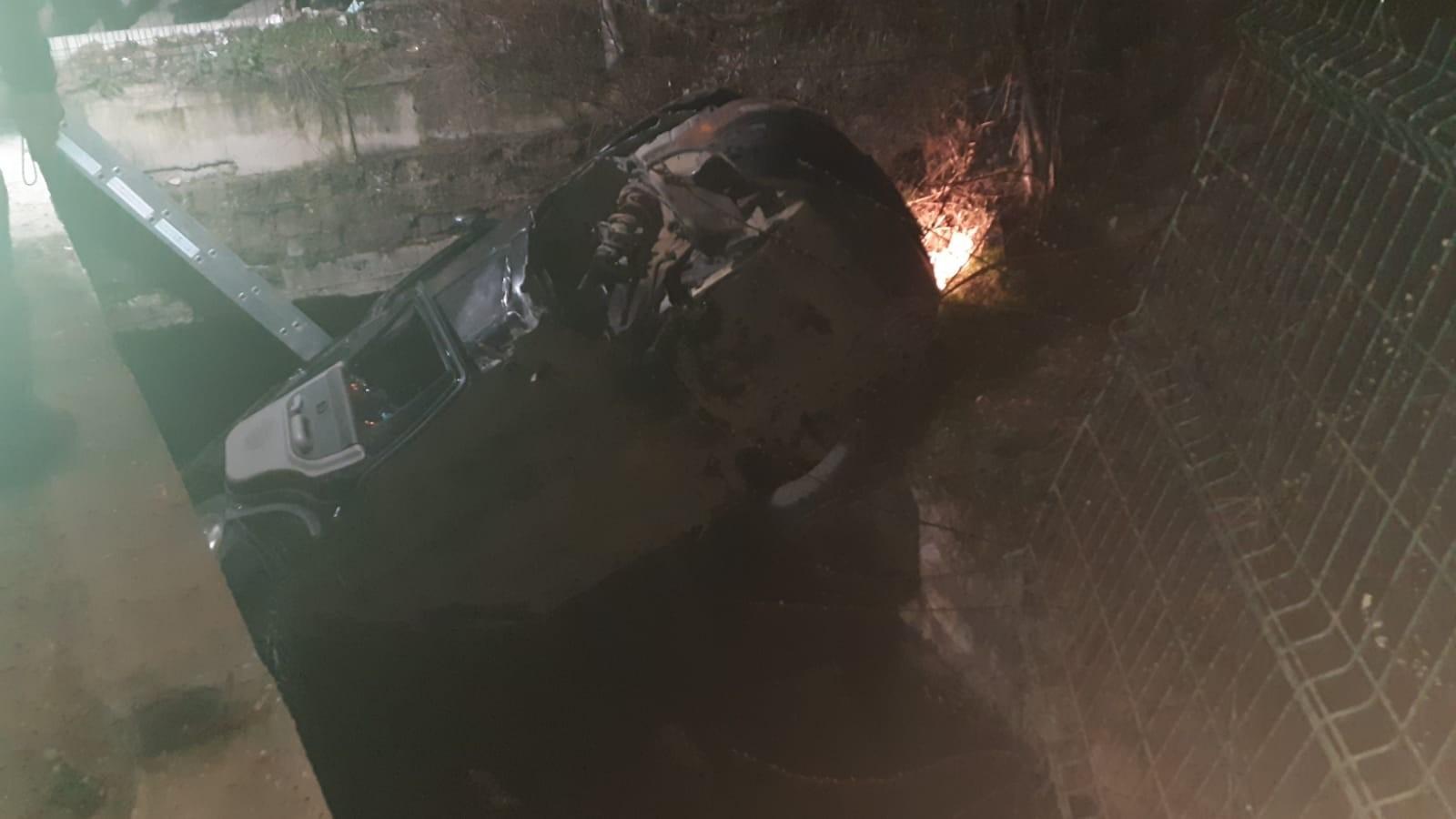 Elbistan'da direksiyon hakimiyetini kaybeden cip kanala uçtu 1 ölü