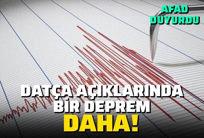 Son dakika   Muğla açıklarında 3.7 büyüklüğünde deprem!