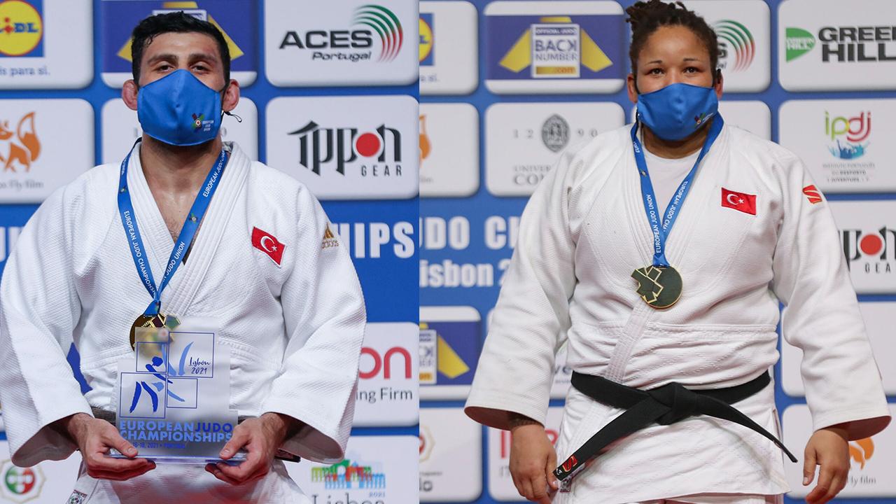"""Şampiyonada çifte gurur! Büyükler Avrupa Judo Şampiyonası'nda üçüncü kez: """"2 Altın"""""""