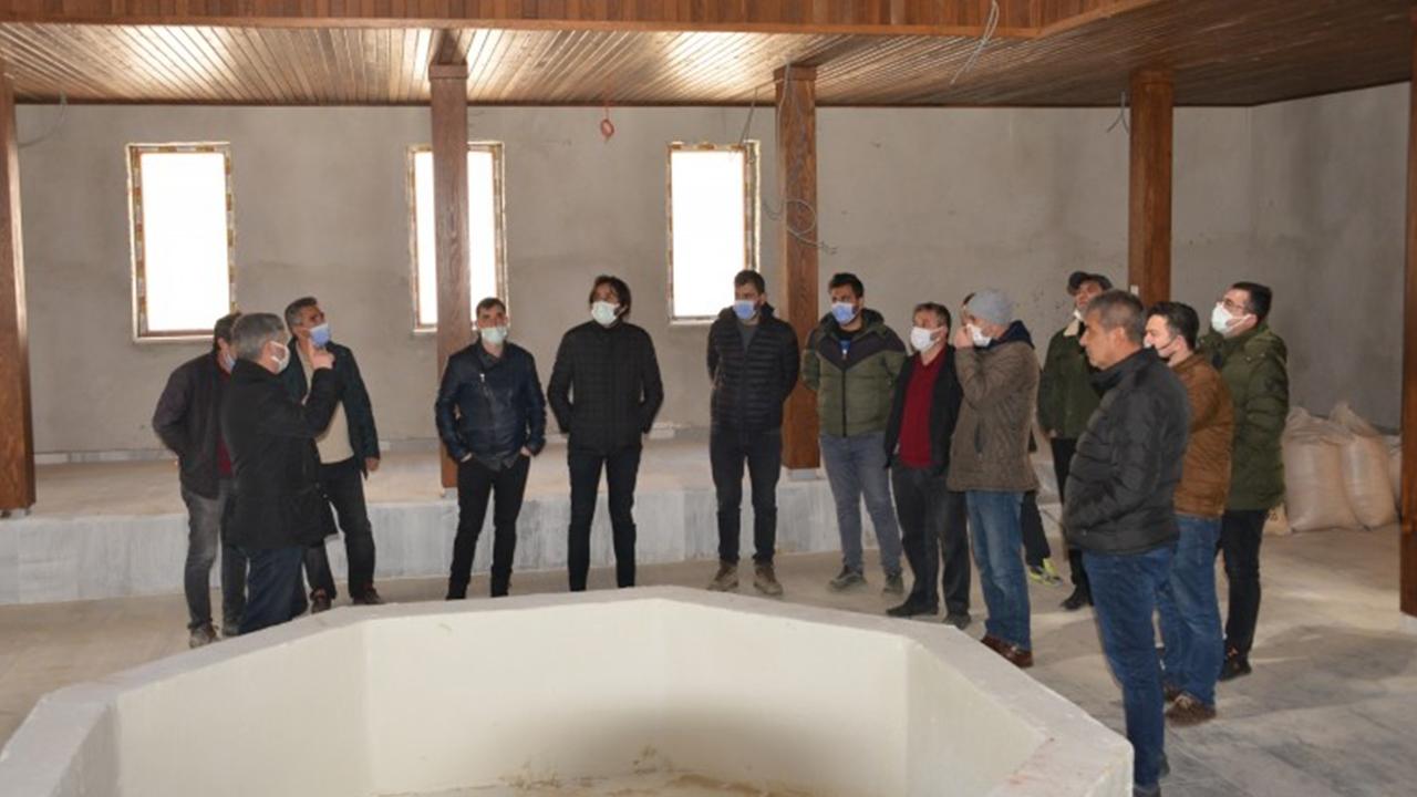 Termal turizmde yeni gözde olacak! AK Parti Gediz İlçe Teşkilatı üyelerinden Ilıca'da inceleme