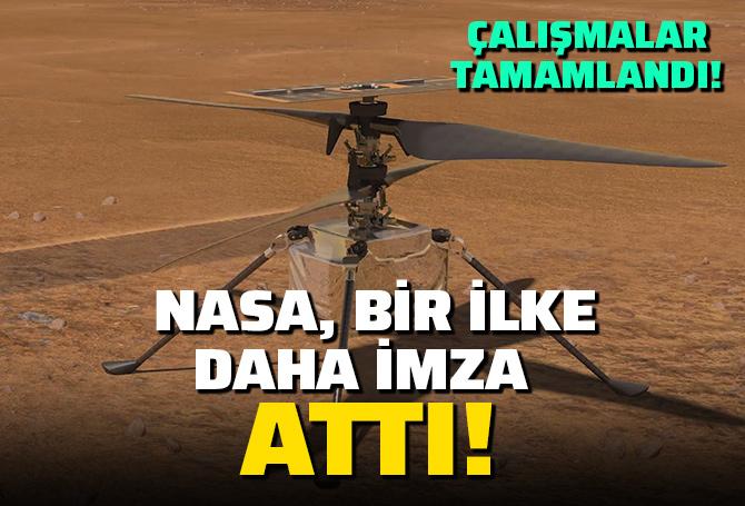 SON DAKİKA! NASA, Mars'ta ilk kez helikopter uçurdu!