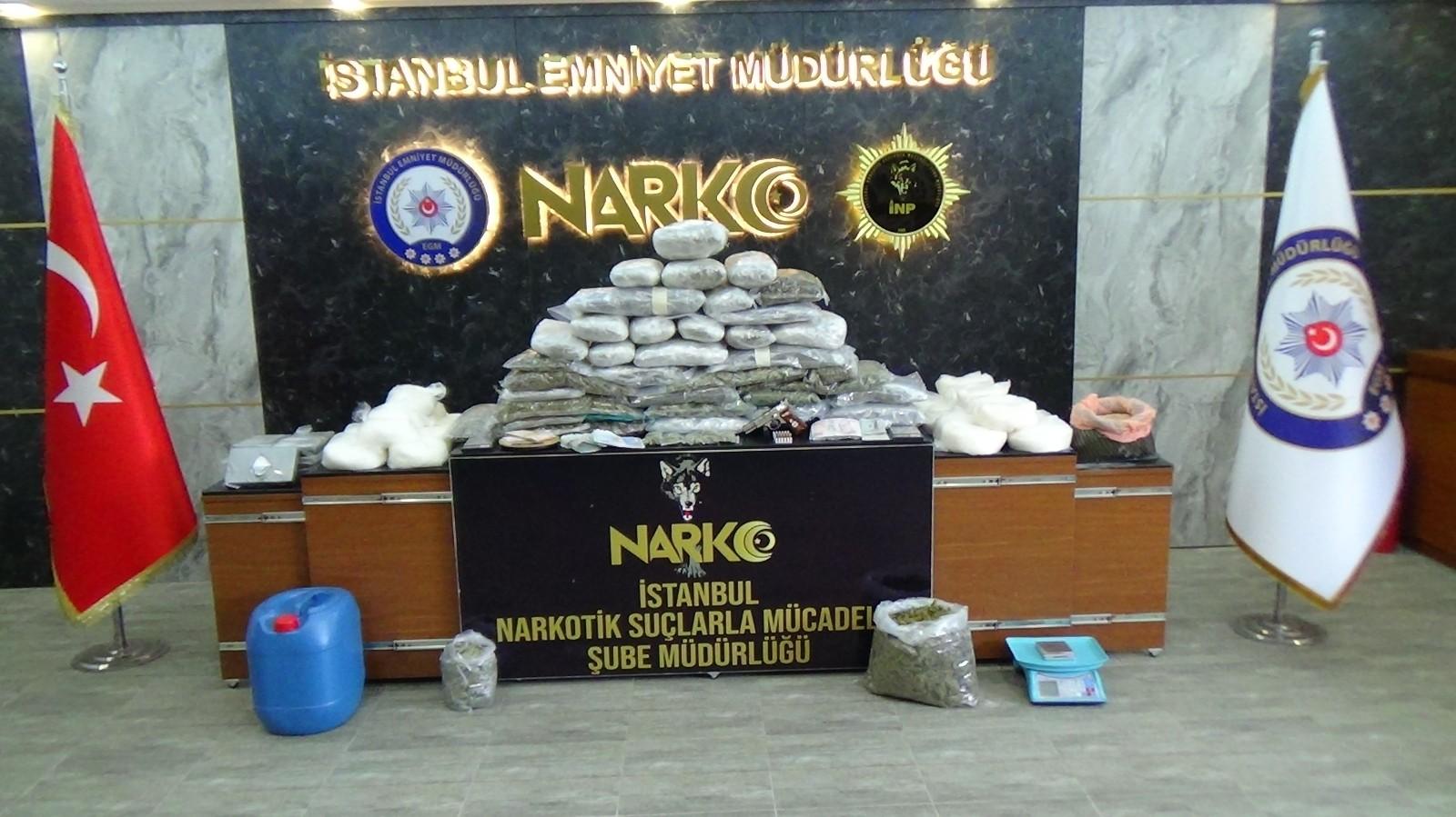 İstanbul'da uyuşturucu maddeyi tuvalete dökerken yakalanan 8 şüpheli gözaltına alındı
