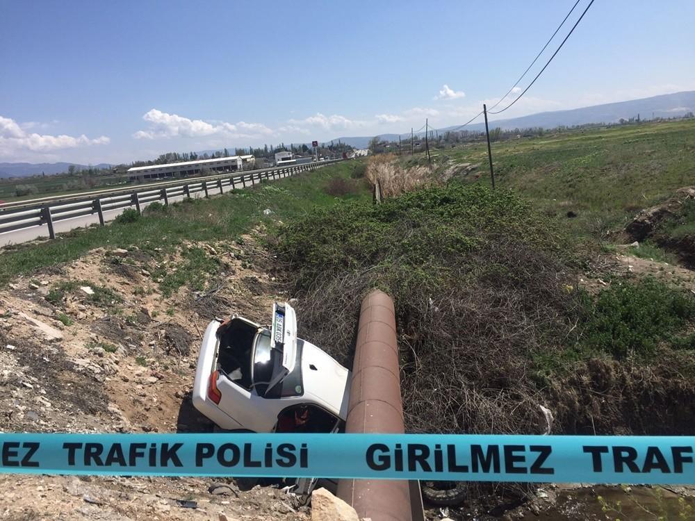 Tüp tankı patlayan araç alev aldı, araçta bulunanlar son anda kurtuldu