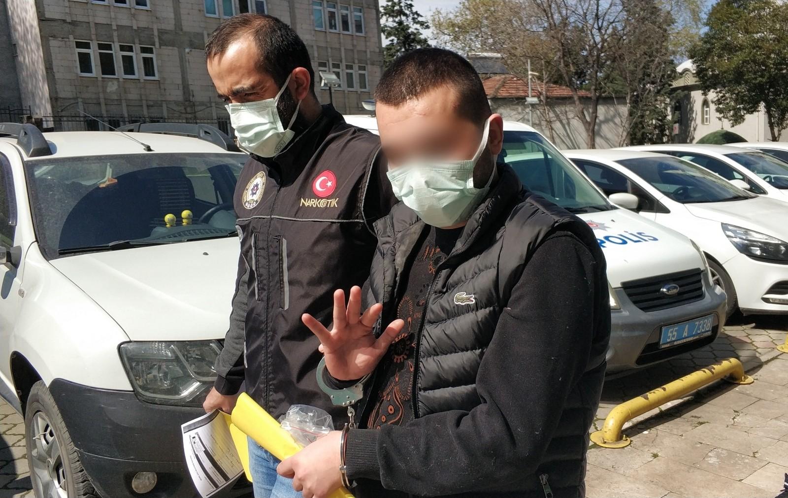 Samsun'da uyuşturucu satarken suçüstü yakalanan zanlı tutuklandı