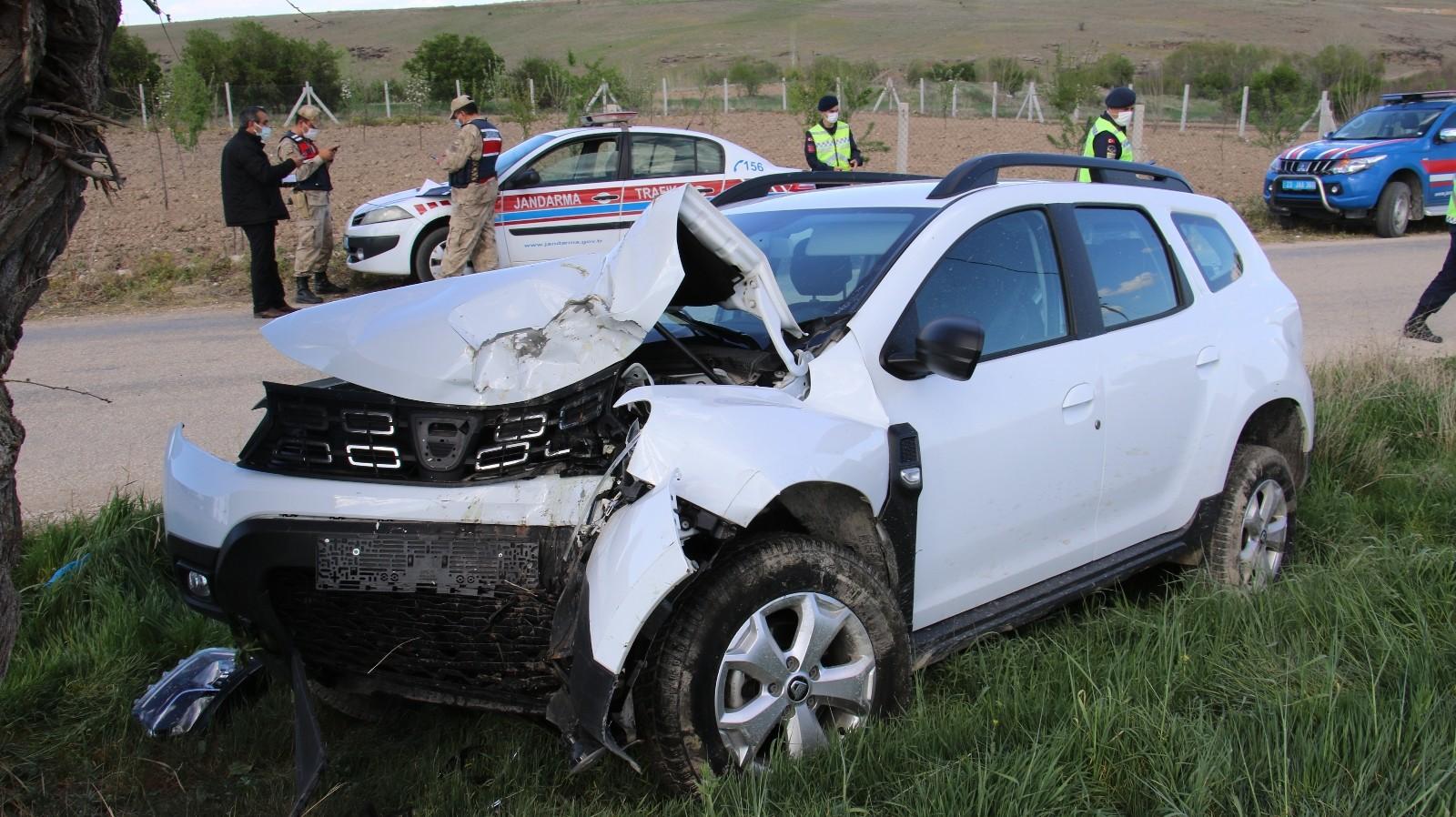 Elazığ'da ağaca çarpan otomobildeki 2 kişi yaralandı