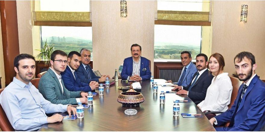 TOBB ETÜ'nün 15 Temmuz gazileri Hisarcıklıoğlu'nu ziyaret etti
