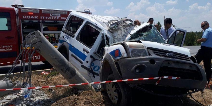 Uşak'ta kaza geçiren polis şehit oldu