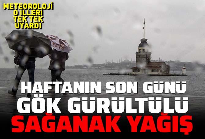 Meteoroloji'den o illere gök gürültülü sağanak yağış uyarısı! İstanbul'da da etkili olacak... İşte 13 Haziran Pazar hava durumu...