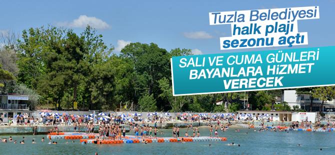 Tuzla Belediyesi Halk Plajı  Salı ve Cuma günleri bayanlara hizmet verecek