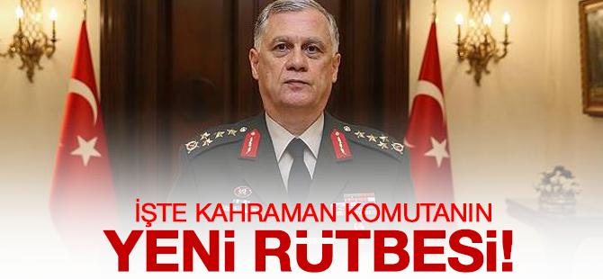 1. Ordu Komutanı Ümit Dündar'ın Yeni Rütbesi!