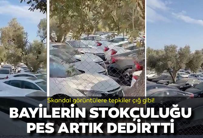 Vatandaşa sıfır araç yok diyen bayilerin stok yalanı ortaya çıktı! Görüntüleri izleyen vatandaşlar isyan etti, demediklerini bırakmadı