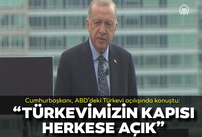 Son dakika! Cumhurbaşkanı Erdoğan ABD'deki açılışta açıklamalarda bulundu!