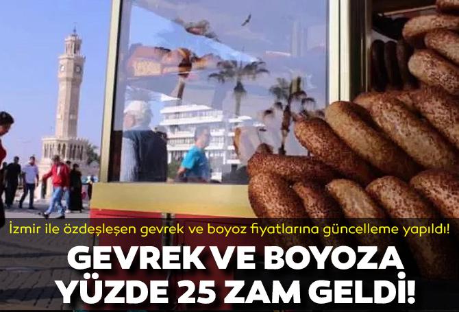 İzmir'de gevrek ve boyoza yüzde 25 zam geldi!