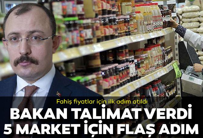 Son dakika | Ticaret Bakanı Mehmet Muş talimat verdi: 5 büyük zincir market için müfettiş görevlendirildi