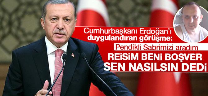 Cumhurbaşkanı Erdoğan Demokrasi Gazisi Pendikli Sabri Ünal'ı Aramış