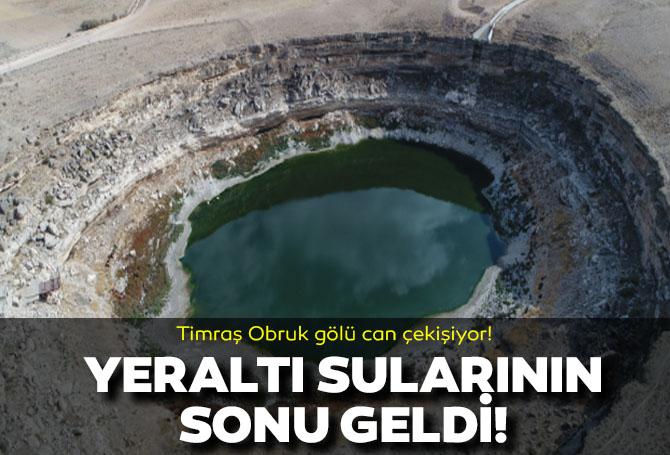Konya Timraş Obruk Gölü'nde tehlike çanları çalıyor! Su 5 metreye kadar geriledi!