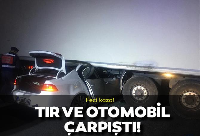 Eskişehir'de feci kaza! Otomobil ve tır çarpıştı! Eski emniyet müdürü ve oğlu hayatını kaybetti!