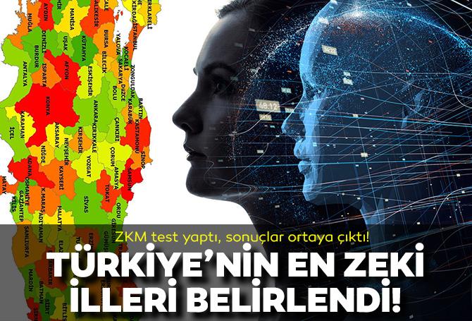 Türkiye'nin en zeki illeri açıklandı!: IQ ortalaması en yüksek iller belirlendi! İşte sırasıyla Türkiye'nin en zeki illeri...