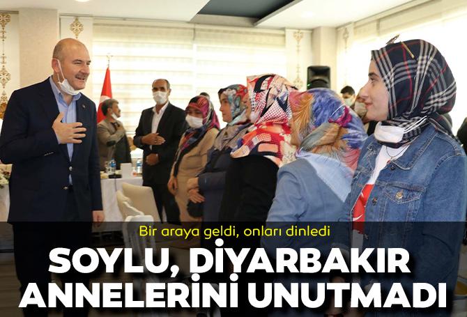 Ekrem İmamoğlu ziyaret etmemişti! İçişleri Bakanı Süleyman Soylu, Diyarbakır anneleri ile bir araya geldi