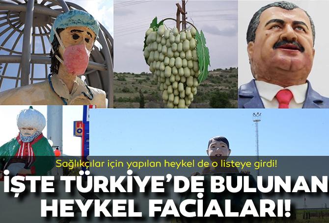 Sağlıkçılar için yapılan heykel de o listeye girdi! İşte Türkiye'nin çeşitli illerinde yer alan heykel faciaları!