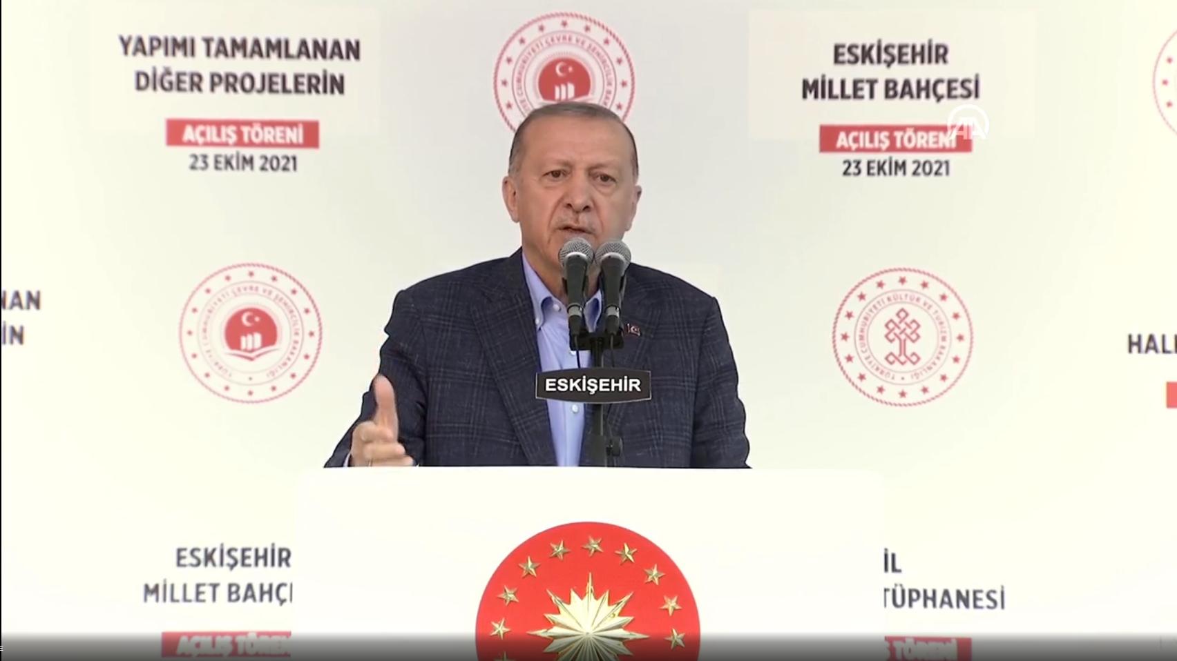 Cumhurbaşkanı Erdoğan, Eskişehir'de toplu açılış töreninde konuştu: Selahattin Demirtaş'ı çıkaramayacaksınız