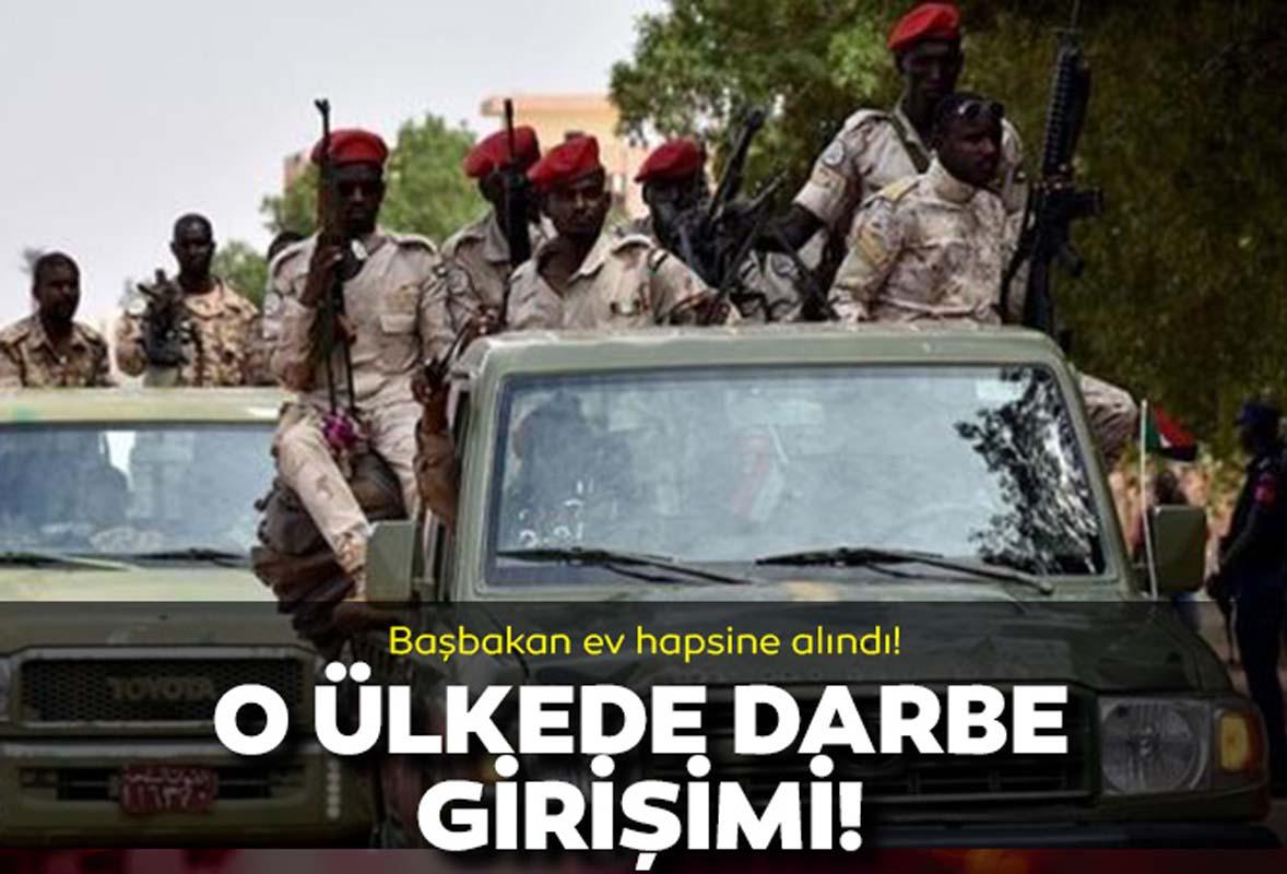 Doğu Afrika ülkesi Sudan'da darbe girişimi! Başbakan ev hapsine alındı!