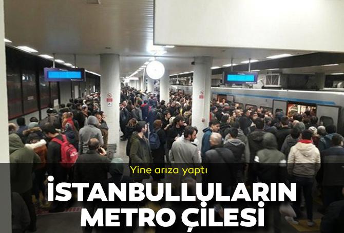 Yine arıza yaptı! İstanbul'da metro çilesi: Vatandaşlar yürümek durumunda kaldı