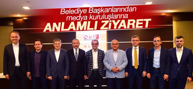Belediye Başkanlarından medya kuruluşlarına anlamlı ziyaret