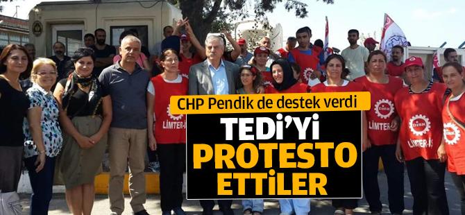 CHP Pendik İşten çıkarılan işçilere destek oldu