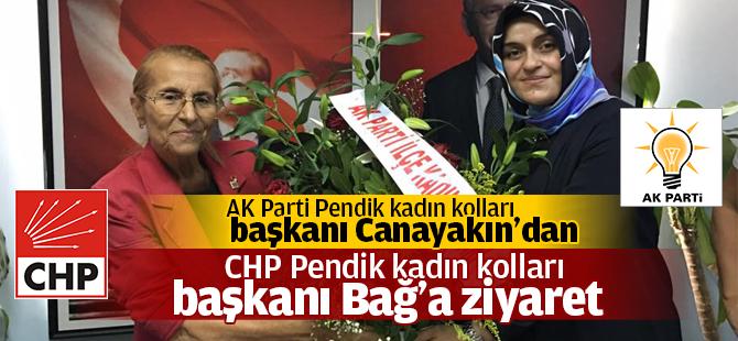 AK Parti Pendik Kadın Kolları Başkanından, CHP Pendik Kadın Kolları Başkanına Ziyaret