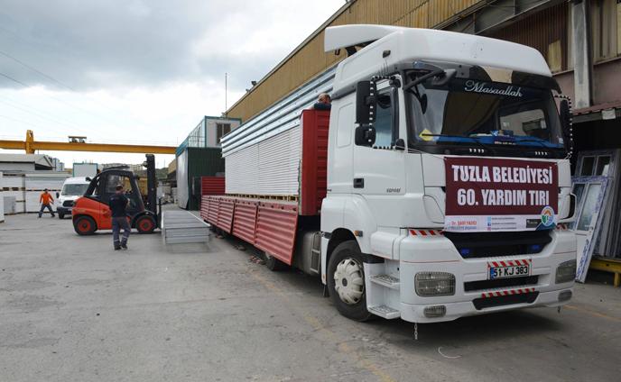 Tuzla Belediyesi'nin 60. Yardım TIR'ı yola çıktı