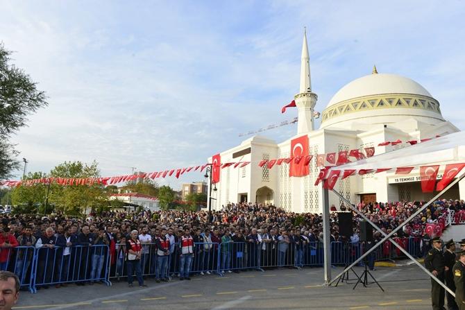 Şehit Ertan Bayraktar 15 Temmuz Şehitler Camii'nden uğurlandı
