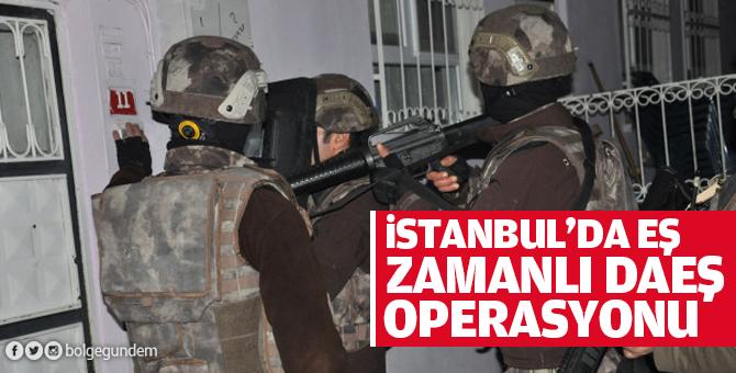İstanbul'da eş zamanlı DAEŞ operasyonu