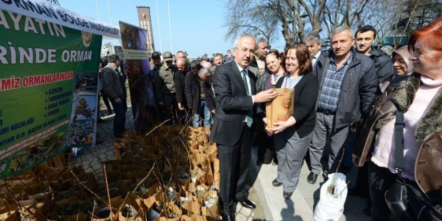 350 bin adet fidan ücretsiz dağıtıldı