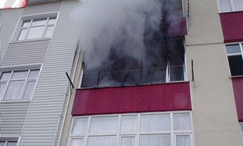 Tuzla'da Daire Yangını