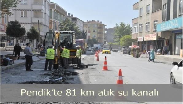 PENDİK'TE ATIK SU KANAL ÇALIŞMASI